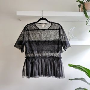 Mesh tulle t-shirt top